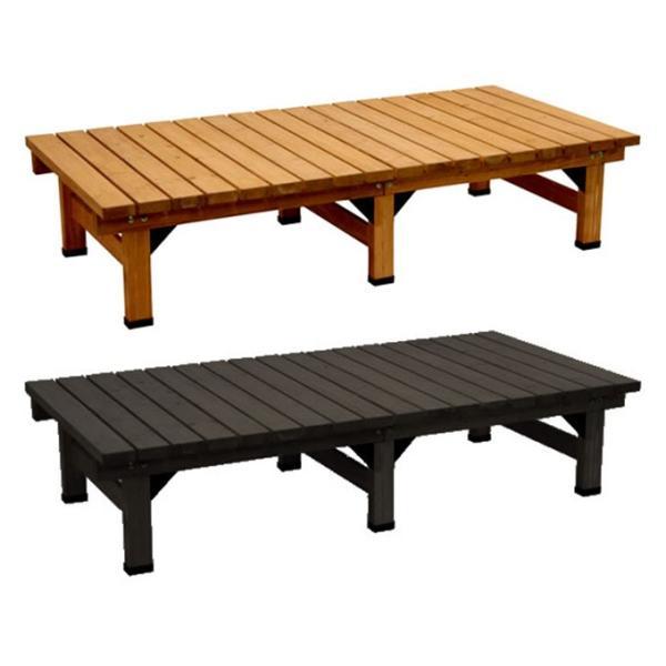 デッキ縁台180×90 縁台 ウッドデッキ デッキ縁台 縁側 ガーデンベンチ 踏み台 腰掛け ステップ 長椅子 木製 屋外 室内 おしゃれ 送料無料