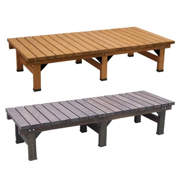 デッキ縁台180×58 縁台 ウッドデッキ デッキ縁台 縁側 ガーデンベンチ 踏み台 腰掛け ステップ 長椅子 木製 屋外 室内 おしゃれ 送料無料