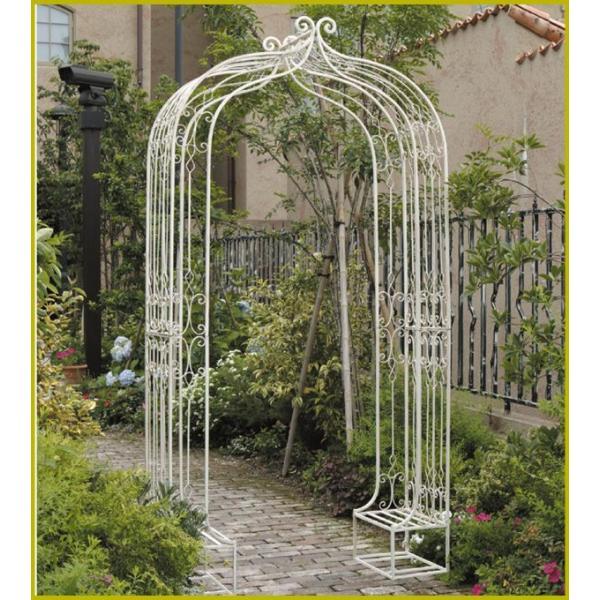 FIELD IRON ARCH ガーデンアーチ バラアーチ ローズアーチ アーチ パーゴラ アイアン 白 ホワイト 庭 エントランス ガーデン ガーデニング バラ 薔薇 送料無料