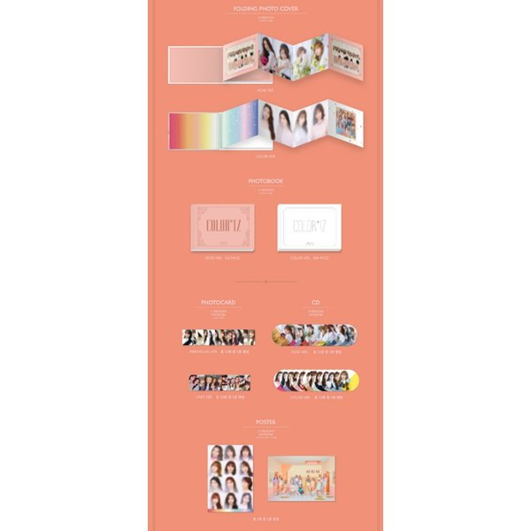 IZ*ONE、1st Mini Album [COLOR*IZ](ROSE Ver.)|kpopbokujostore|02