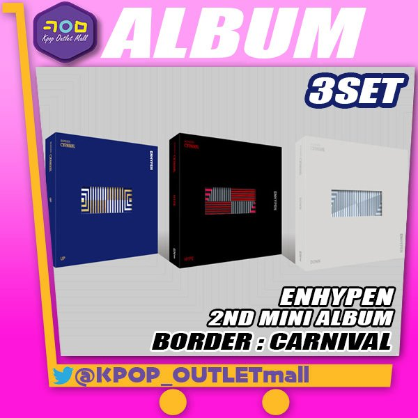 ENHYPENミニ2集アルバム ENHYPENBORDER:CARNIVAL   /3種セット エンハイフンエンハイプン2ndM