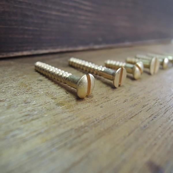 こだわり真鍮マイナス木ネジ 2×12mm(ラウンド) 10本|kqlfttools|03
