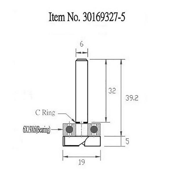 STAX TOOLS TopBearingPatternBit (トップ ベアリング パターン)19mm×5mm 30169327.5|kqlfttools|03