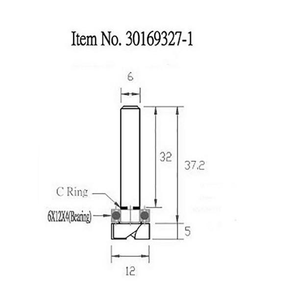 STAX TOOLS TopBearingPatternBit (トップ ベアリング パターン)12mm×5mm 30169327.1|kqlfttools|03