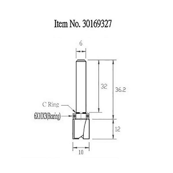 STAX TOOLS TopBearingPatternBit (トップ ベアリング パターン)10mm×12mm 30169327|kqlfttools|03