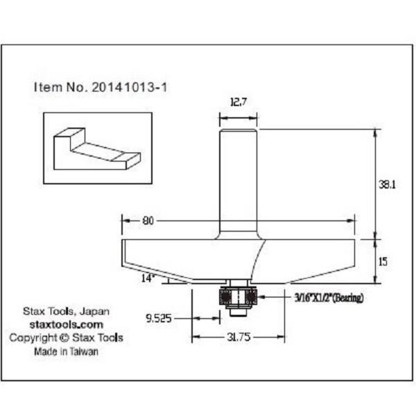"Raised Panel bit(パネルビット)1/2""軸 20141013.1 kqlfttools 03"