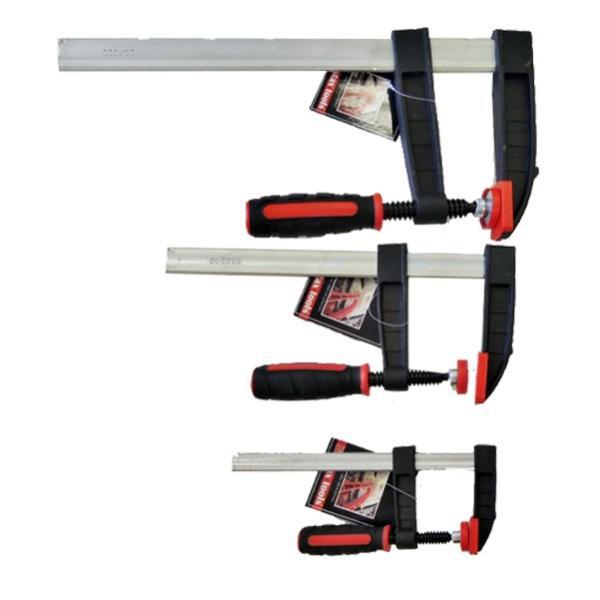 STAX TOOLS F型クランプ(赤) 80mm×200mm 10本 kqlfttools