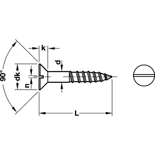 HAFELE 真鍮マイナス頭ネジ 皿タイプ 10本セット3.5mm×16mm #011.00.529|kqlfttools|02
