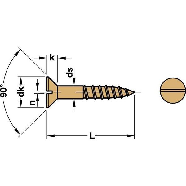HAFELE 真鍮マイナス頭ネジ 皿タイプ 10本セット3.5mm×16mm #011.00.529|kqlfttools|03