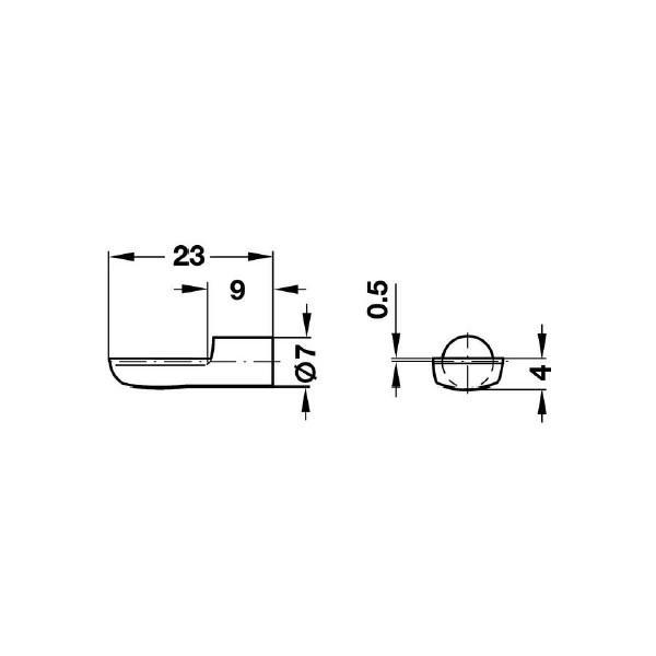 HAFELE スプーン型棚ダボ 7mm 10個セット ゴールド #282.01.505|kqlfttools|02