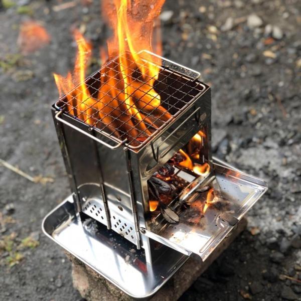 バーベキューコンロ 焚き火台 ミニ 収納袋付き 折りたたみ ステンレス製 アウトドア キャンプ|krisonstore|12
