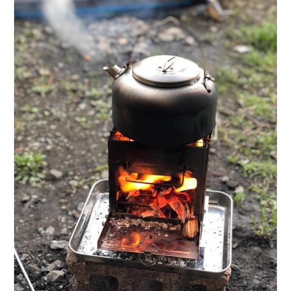 バーベキューコンロ 焚き火台 ミニ 収納袋付き 折りたたみ ステンレス製 アウトドア キャンプ|krisonstore|13