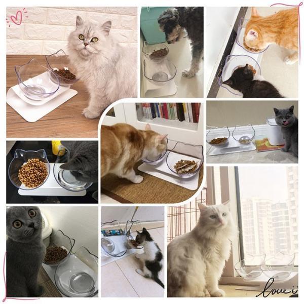 猫 フードボウル 猫 えさ 皿 小型犬用 食器 ダイニング フードボール ペット食器 2個セット krisonstore 14