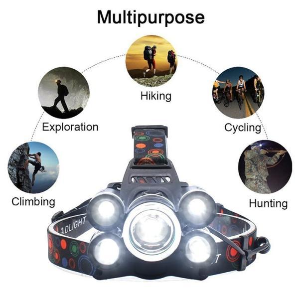 8000ルーメン超強力ヘッドライト LED ヘッドライト 4モード 超強力 防水 軽量 アウトドアー 登山 夜釣り 工事作業 自転車 ハイキング キャンプ|krisonstore|06