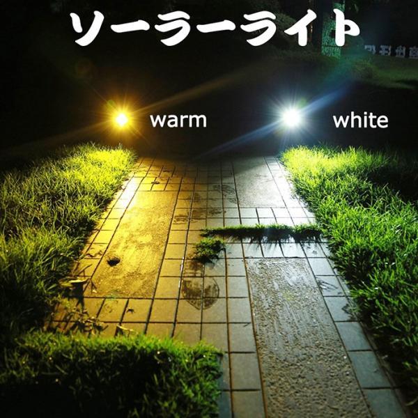 ソーラーライト 屋外 LEDスポットライト 夜間自動点灯 配線不要 電気代不要 間壁 玄関先 芝生 ガーデンライト アウトドアソーラーled照明 krisonstore
