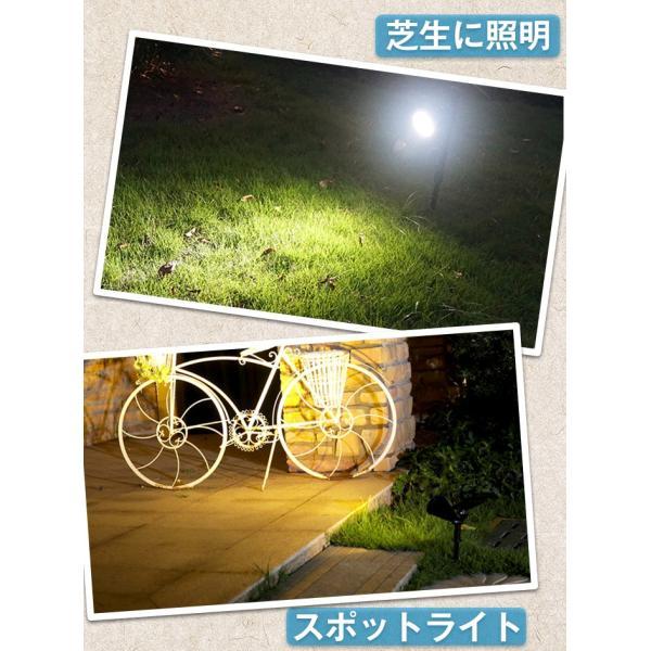 ソーラーライト 屋外 LEDスポットライト 夜間自動点灯 配線不要 電気代不要 間壁 玄関先 芝生 ガーデンライト アウトドアソーラーled照明 krisonstore 14