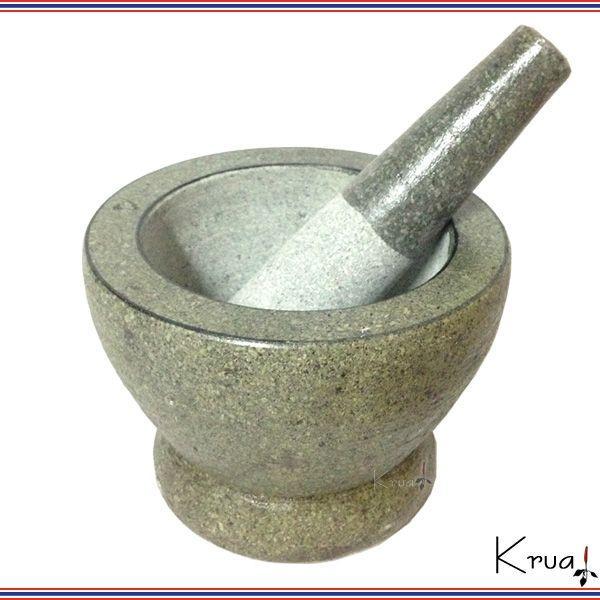タイ職人手製 クロックヒン 石臼 大 石棒付き|krua