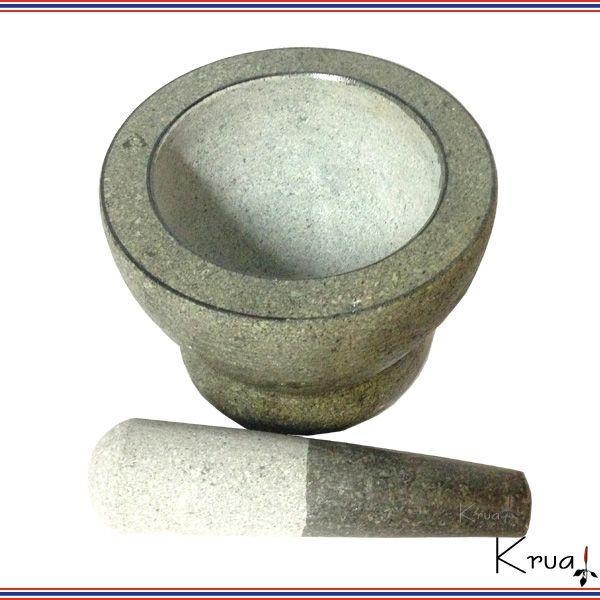 タイ職人手製 クロックヒン 石臼 大 石棒付き|krua|02
