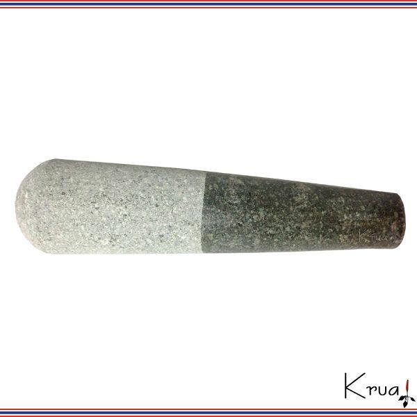 タイ職人手製 クロックヒン 石臼 大 石棒付き|krua|04