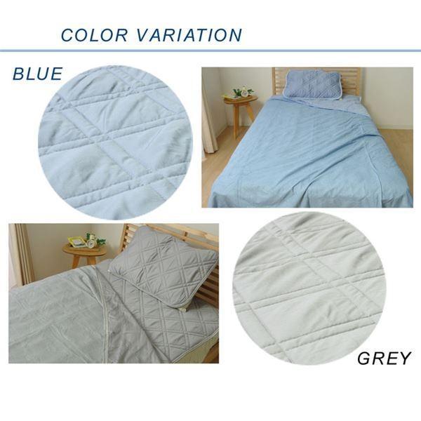 なめらか 敷きパッド/寝具 〔ブルー 約140cm×205cm〕 ダブル 洗える 吸湿性 放湿性 モダール 敷パッド 〔寝室〕|krypton|06