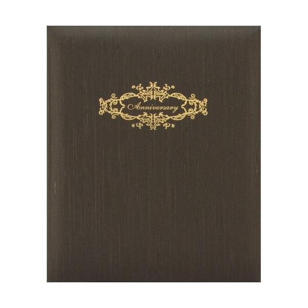 HAKUBA 写真台紙 高級 婚礼用 台紙 No88 シャンタン 6切 サイズ 2面 タテ×2枚 ブラウン 6切 M88-6STBR-2TT