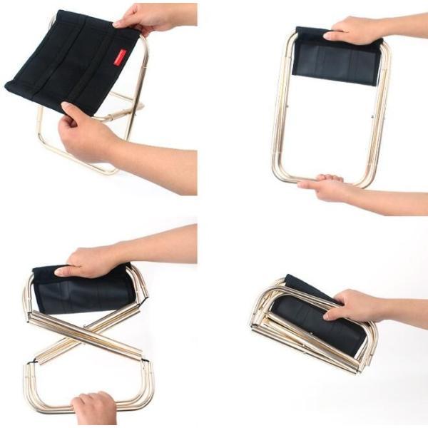 椅子 折り畳み 持ち運び 小さい 超軽量スツール いす 折り畳み式 小型アウトドアチェア 折畳式携帯椅子 コンパクト 野外登山 キャンプ用|ks-island|04