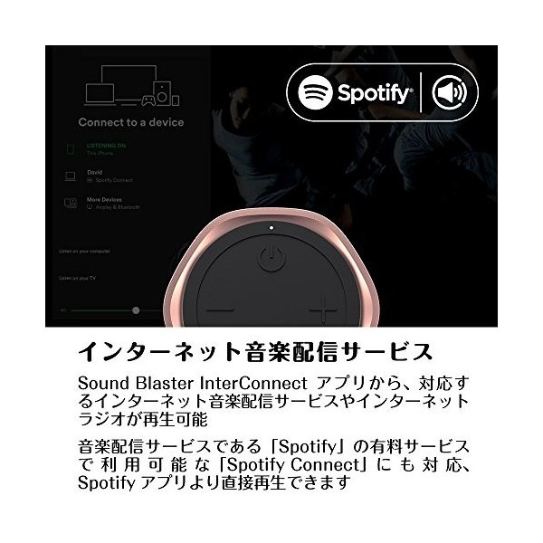 Creative Omni Wi-Fi/Bluetooth (AAC/SBC) 対応 ワイヤレススピーカー iOS/Android対応アプリ IPX4