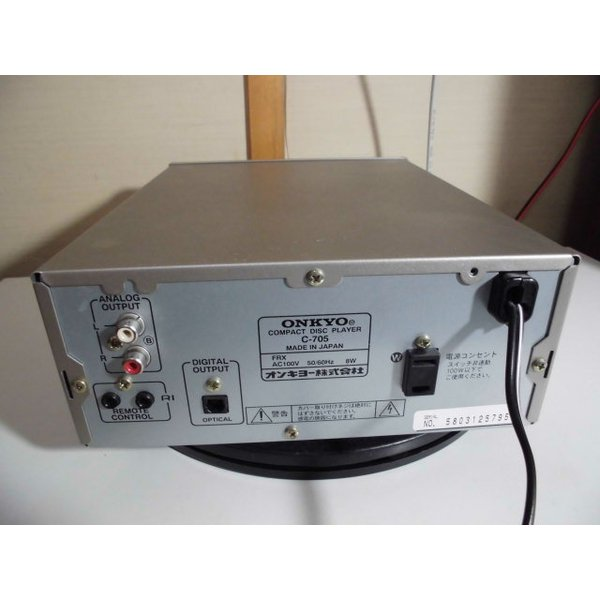 ONKYO C-705 〓 オンキョーのコンパクトなCDプレーヤー, 美品,保証 〓 INTEC205 [123]
