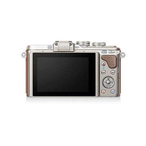 (アウトレット) オリンパス 小型一眼カメラ 2本レンズキット(電動ズーム+望遠) PEN(ペン) PEN E-PL8 EZダブルズームキット(ブラウン) ブラウン|ksdenki|02