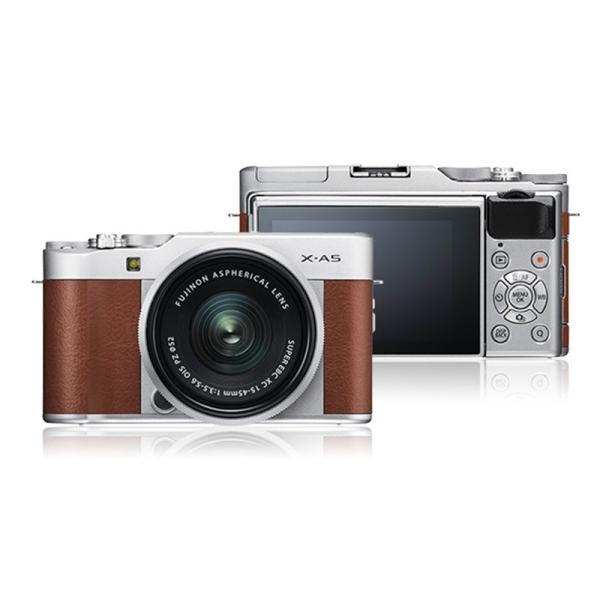 フジフイルム 小型一眼カメラ 1本レンズキット(標準ズーム) X-A5LK-BW ブラウン ksdenki