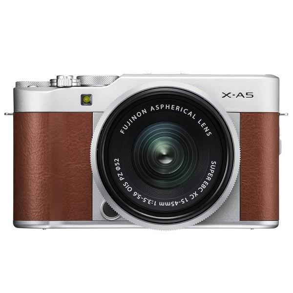 フジフイルム 小型一眼カメラ 1本レンズキット(標準ズーム) X-A5LK-BW ブラウン ksdenki 02