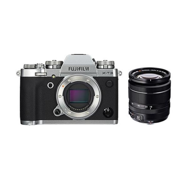 フジフイルム 小型一眼カメラ 1本レンズキット(標準ズーム) 4K X-T3LK-S シルバー
