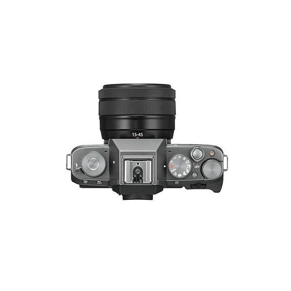 フジフイルム 小型一眼カメラ 2本レンズキット(電動ズーム+望遠) 4K X-T100WZLK-DS ダークシルバー