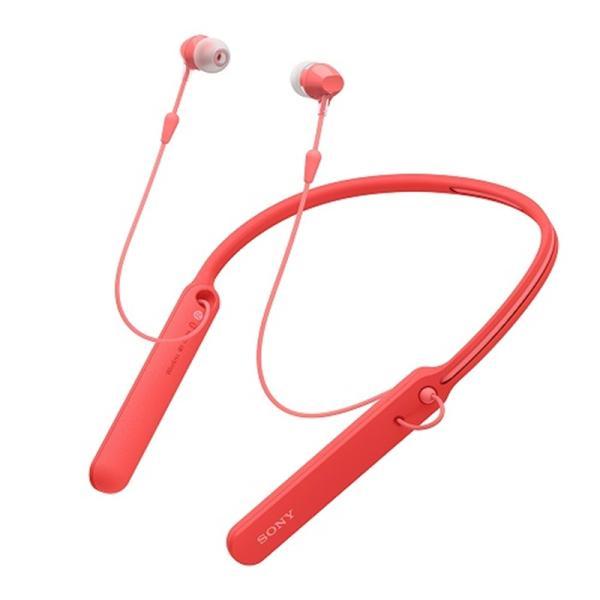 ソニー Bluetoothヘッドホン WI-C400 R レッド