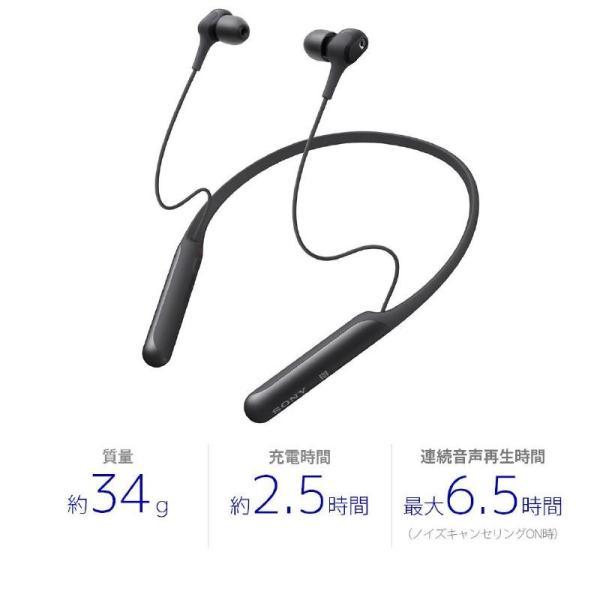 ソニー Bluetoothヘッドホン WI-C600N BM ブラック