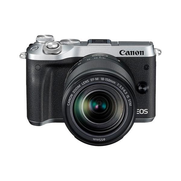 キヤノン 小型一眼カメラ 1本レンズキット(高倍率ズーム) EOS(イオス) EOSM6-18150ISSTMLK(SL) シルバー