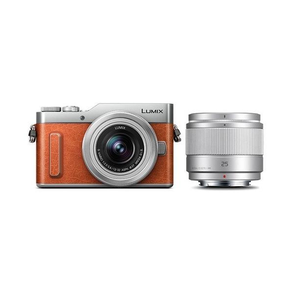 パナソニック 小型一眼カメラ 2本レンズキット(単焦点+標準ズーム) 4K LUMIX(ルミックス) DC-GF10W-D オレンジ