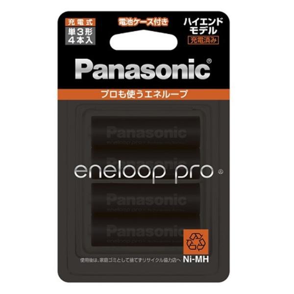 パナソニック エネループ プロ ハイエンド充電池 単3×4本 BK-3HCD/4C