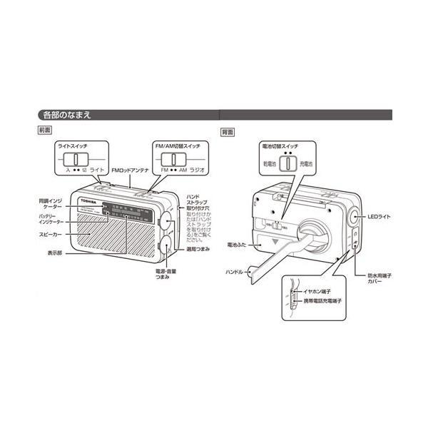 東芝 充電ラジオ TY-JKR5(W) ホワイト|ksdenki|04