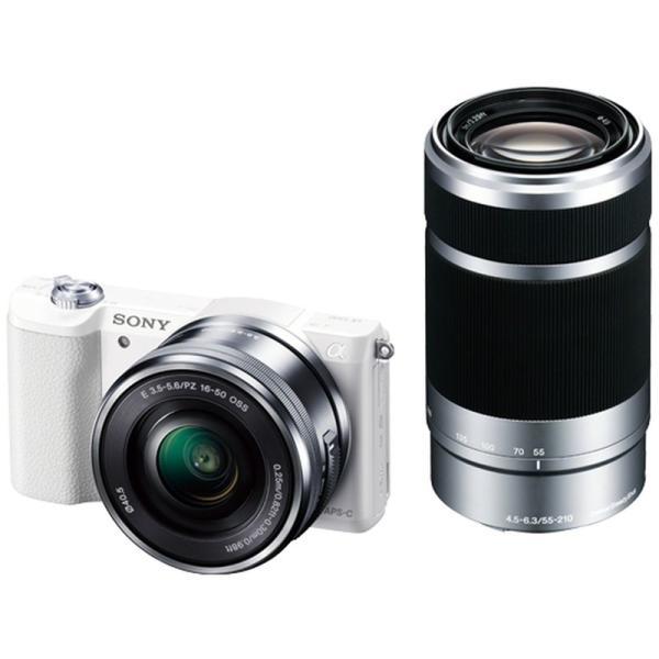 ソニー 小型一眼カメラ 2本レンズキット(電動ズーム+望遠) α(アルファ) α5100 ILCE-5100Y W ホワイト