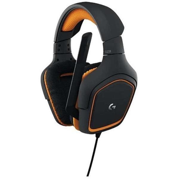 (アウトレット) LOGICOOL ロジクール G231 ゲーミングヘッドセット G231 グレー/オレンジ ksdenki