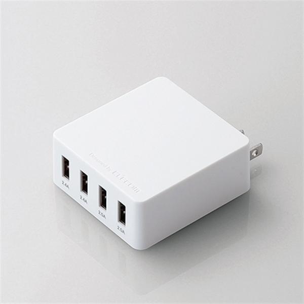 エレコム スマートフォン用AC充電器 MPA-AC4U001WH ホワイト|ksdenki
