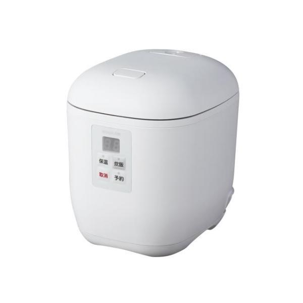 小泉 マイコン1.5合炊飯器 KSC-1512/W ホワイト 炊飯容量:1.5合の画像