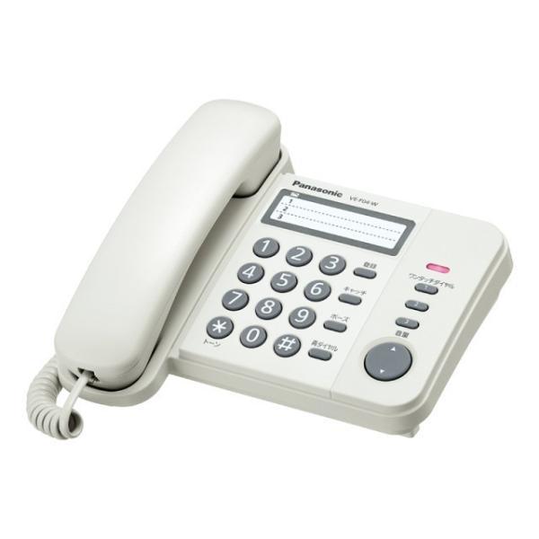 パナソニック 電話機 VE-F04-W ホワイト|ksdenki