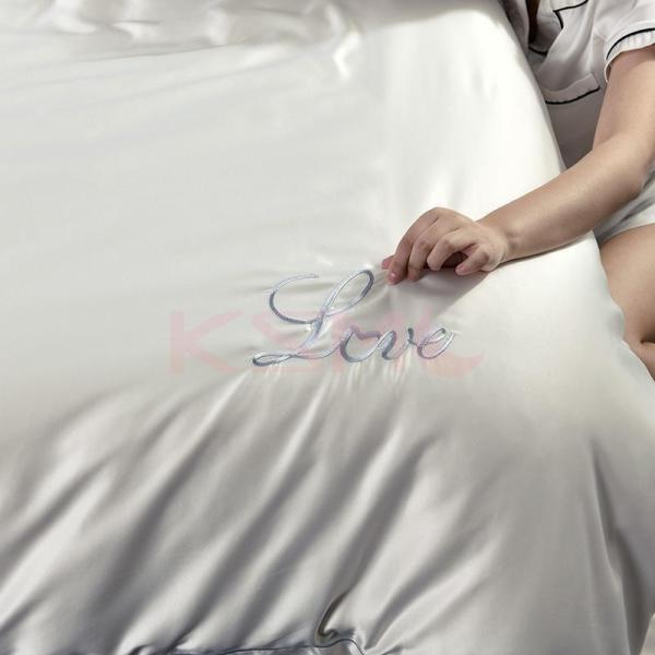 布団カバーセット  4点セット ダブル セミダブル クイーン 布団 シーツ 無地 シンプルデザイン 北欧 ボックスシーツ フラット 枕カバー 寝具|ksmc-shop|13