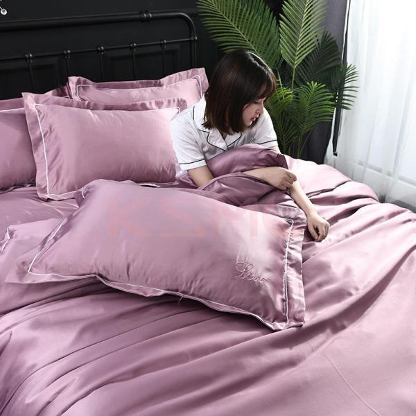 布団カバーセット  4点セット ダブル セミダブル クイーン 布団 シーツ 無地 シンプルデザイン 北欧 ボックスシーツ フラット 枕カバー 寝具|ksmc-shop|17
