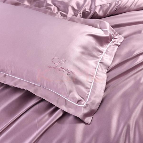 布団カバーセット  4点セット ダブル セミダブル クイーン 布団 シーツ 無地 シンプルデザイン 北欧 ボックスシーツ フラット 枕カバー 寝具|ksmc-shop|18