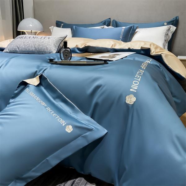 布団カバー 4点セット クイーン シーツカバー 寝具セット 枕カバー ベッド用 洋式和式兼用 柔らかい 北欧風 星空 封筒式 洗える 防臭防ダニ 掛けカバー210x210cm ksmc-shop