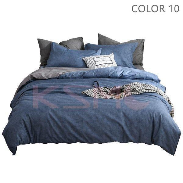 布団カバーセット 3点 4点 シングル セミダブル ダブル 寝具セット ボックスシーツ 枕カバー おしゃれ 北欧風 防ダニ 洗える 洋式和式兼用 柔らかい|ksmc-shop|11