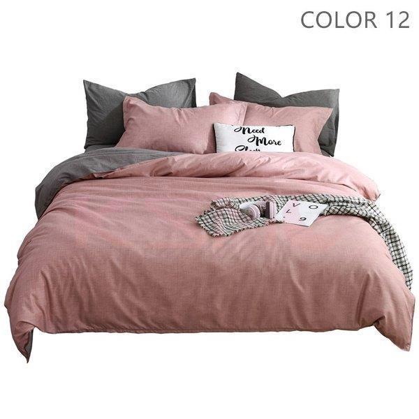 布団カバーセット 3点 4点 シングル セミダブル ダブル 寝具セット ボックスシーツ 枕カバー おしゃれ 北欧風 防ダニ 洗える 洋式和式兼用 柔らかい|ksmc-shop|13